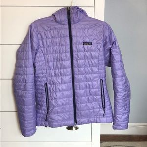 Patagonia hooded Nano puff jacket size medium